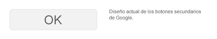 Diseño del botón actual de Google