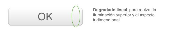 Degradado lineal, para realzar la iluminación superior y el aspecto tridimendional.